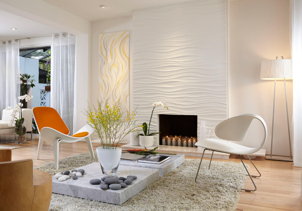 Textured wall in neutral